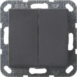Gira 012528 Tastschalter komplett mit Serienwippen fuer Serienschalter Anthrazit
