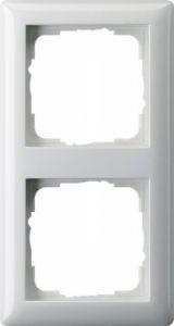 Gira 021203 Rahmen Reinweiß Glänzend 2 Fach