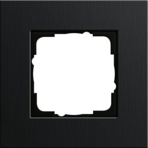 GIRA 0211126 Esprit Abdeckrahmen Aluminium Schwarz 1fach