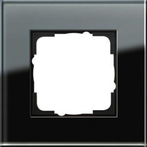 GIRA 021105 Esprit Abdeckrahmen Schwarz Glas 1-fach