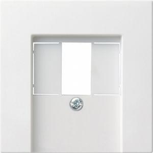 Gira 027627 Abdeckung für TAE und Lautsprecherdose Reinweiß seidenmatt