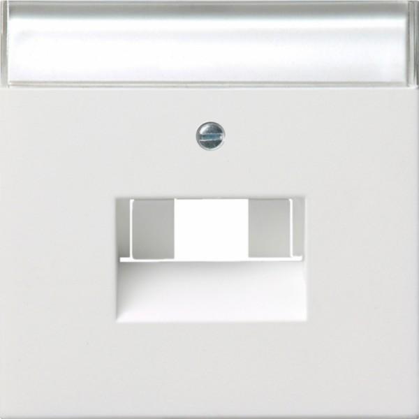 GIRA 0284112 Abdeckung für ISDN und Netzwerkanschlussdose Reinweiß glänzend