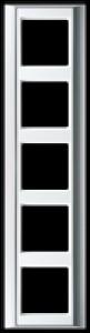 Jung Abdeckrahmen 5-fach A PLUS AP 585 ALWW aluminium-alpinweiß
