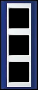 Jung Abdeckrahmen 3-fach AP 583 BL WW blau-alpinweiß