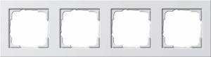 Gira 021429 Reinweiß glänzend Rahmen E2 4fach
