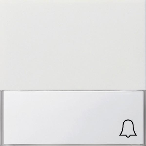 GIRA 0679112 Wippe mit Symbol Klingel und großem Beschriftungsfeld Reinweiß glänzend