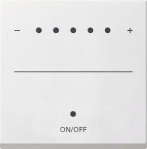 Gira 226027 System 2000 Touch-Dimmaufsatz (Sensordimmer) Reinweiß seidenmatt