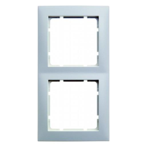 BERKER 10128989 Rahmen S.1, Polarweiß glänzend 2-fach