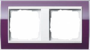 GIRA 0212753 Abdeckrahmen Event Klar Aubergine 2-fach