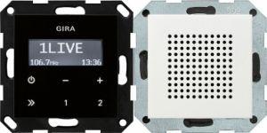 GIRA 228027 Unterputz-Radio RDS mit 1 Lautsprecher Reinweiß seidenmatt