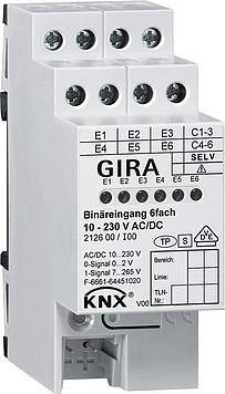 Gira 212600 KNX EIB Binäreingang 6fach 24 V