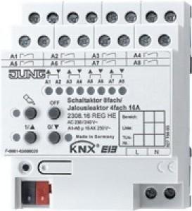 Jung KNX Schalt- / Jalousieaktor 8f / 4f 2308.16REGHE