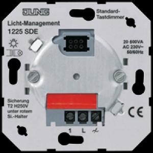 JUNG 1225 SDE Tastdimmer Standard 20-500VA