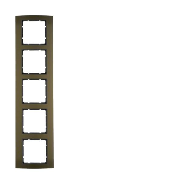 Berker 10153001 B.3 Rahmen 5-fach Alu braun/anthrazit