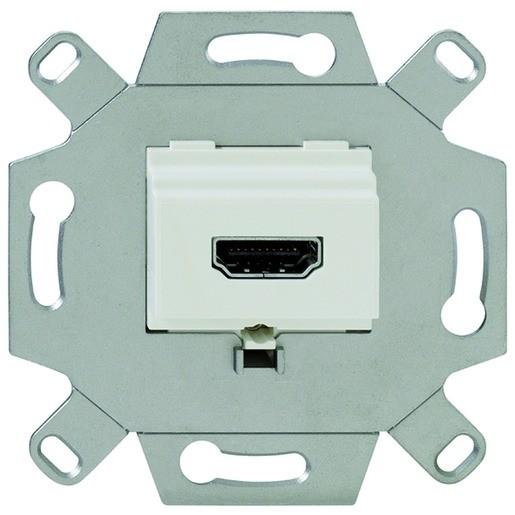 Rutenbeck KM-HDMI Anschlussdose Up 0 reinweiß 17010553