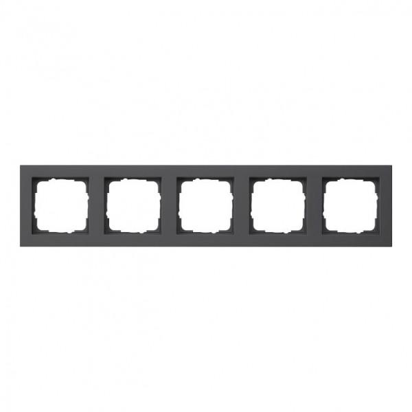 GIRA 021509 Abdeckrahmen E2 schwarz matt 5-fach