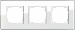 GIRA 0213512 Esprit Abdeckrahmen Weiß Glas C 3-fach