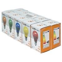 AGL-Leuchtmittel, E27/15W, 10er-Pack,  je 2 rot, gelb, blau, grün, orange