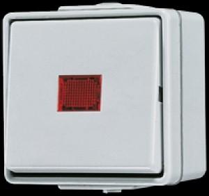 606 KOW, Wipp-Kontrollschalter, 10 AX, 250 V ~, rotes Lichtaustr., Universal Aus-Wechsel