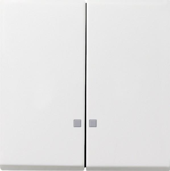 GIRA 0631112 Serienwippen mit Kontroll-Fenster Reinweiß glänzend