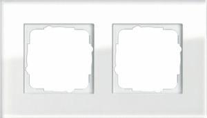 GIRA 021212 Esprit Abdeckrahmen Weißglas 2-fach