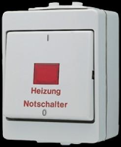 Jung Heizung-Notschalter 16 AX 400 V 3 Polig