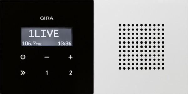 GIRA 2280112 Unterputz-Radio RDS mit 1 Lautsprecher Reinweiß glänzend