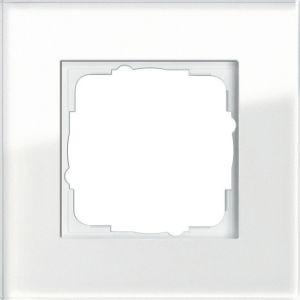 GIRA 021112 Esprit Abdeckrahmen Weißglas 1-fach