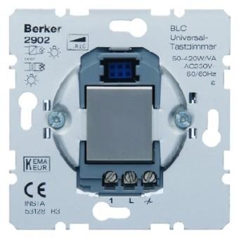 BERKER 2902 BLC Universal-Tastdimmer mit Nebenstelleneingang