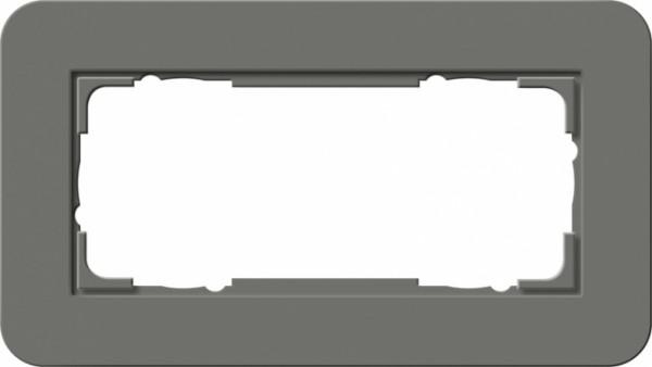 GIRA 1002413 Abdeckrahmen E3 ohne ohne Mittelsteg 2fach Dunklgrau/Reinweiß 2-fach ohne Mittelsteg