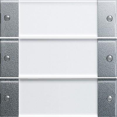 Gira 213326 Wippenset 3fach Farbe alu