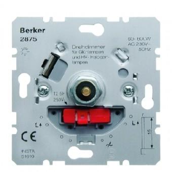 BERKER 2875 Drehdimmer mit Softrastung, mit Druck-Aus-/Wechselschalter