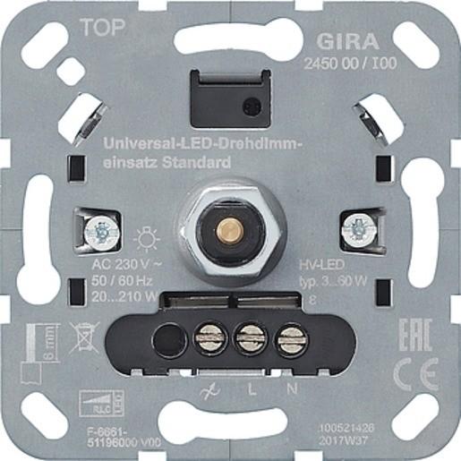 Gira 245000 Universal-LED-Drehdimmeinsatz Standard