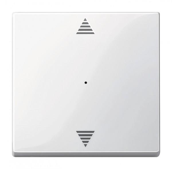 Merten MEG5215-0319 System M Wippe für Taster-Modul 1-fach (Pfeile Auf/Ab) polarweiß glänzend