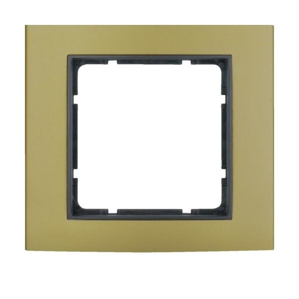 Berker 10113016 B.3 Rahmen 1-fach Alu gold/anthrazit