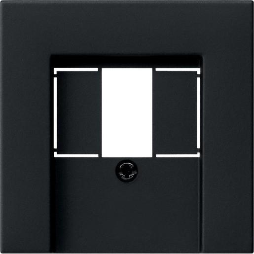 Gira 0276005 System 55 Abdeckung für TAE und USB Schwarz matt