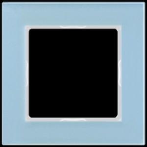 JUNG AC581GLBLGR A creation Glasrahmen, blaugrau 1fach