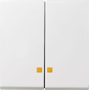 Gira 063127 Serienwippen mit Kontroll-Fe nster für Serien-Kontrollschalter Reinweiß seidenmatt