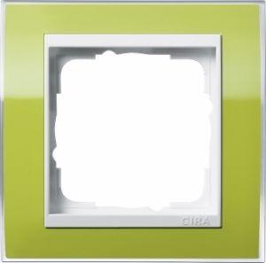 GIRA 0211743 Abdeckrahmen Event Klar Grün 1-fach