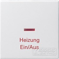Gira 067803 Wippe mit Aufdruck Heizung Kontrollfenster für Kontr Reinweiß glänzend