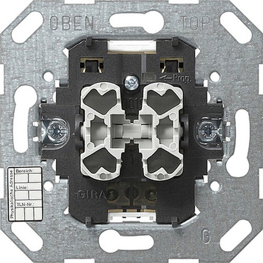Gira 018500 KNX EIB Einsatz Taster 2fach 2 Punktbedienung