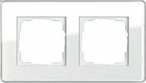 GIRA 0212512 Esprit Abdeckrahmen Weiß Glas C 2-fach