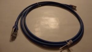 Patchkabel Cat.6A AWG 26 1.0 m blau
