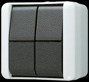 jung 809w wippschalter doppel wechsel schalter taster wg 800 aufputz ip44 jung. Black Bedroom Furniture Sets. Home Design Ideas