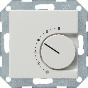 Gira 039603 Raumtemperatur Regler komplett mit Wechsler. Reinweiß glänzend