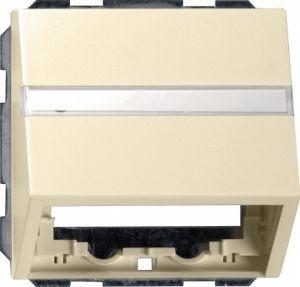 Gira 087001 Datenhaube mit Tragring und Beschriftungsfeld Cremeweiß glänzend