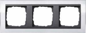 GIRA 0213728 Abdeckrahmen Event Klar Weiß 3-fach