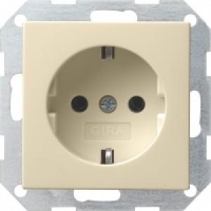Gira 045301 System 55 Schuko-Steckdose mit integriertem erhöhten Berührungsschutz und Symbol Steckkl