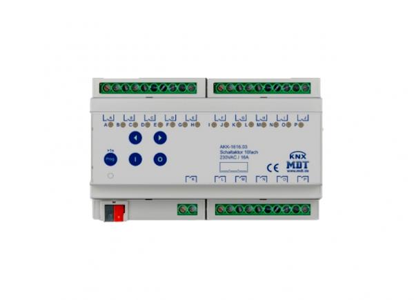 MDT AKK-1616.03 Schaltaktor 16fach 8TE REG 16A 230VAC Kompakt