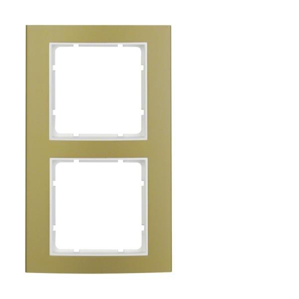 Berker 10123046 B.3 Rahmen 2-fach Alu gold/polarweiß